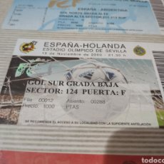 Collezionismo sportivo: ESPAÑA - HOLANDA. ESTADIO OLÍMPICO DE SEVILLA. 2000. Lote 243101230