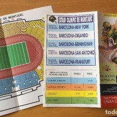 Coleccionismo deportivo: DRAGONS BARCELONA. 2 FOLLETOS DRAGONS -BARCELONA. Lote 243207780