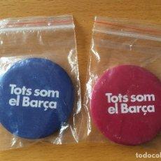 Coleccionismo deportivo: FC BARCELONA. 2 CHAPAS CANDIDATURA. SANDRO ROSELL.. Lote 243209890