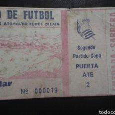 Coleccionismo deportivo: ENTRADA FUTBOL REAL SOCIEDAD CADIZ 1984. Lote 244012845