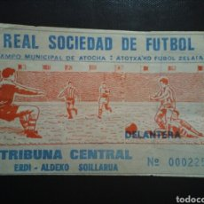 Coleccionismo deportivo: ENTRADA FUTBOL REAL SOCIEDAD SANTURTZI 1984. Lote 244014625
