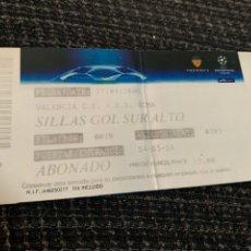 Coleccionismo deportivo: ENTRADA ORIGINAL UEFA CHAMPIONS LEAGUE VALENCIA CF AS ROMA 27 SEPTIEMBRE 2006. Lote 244556700