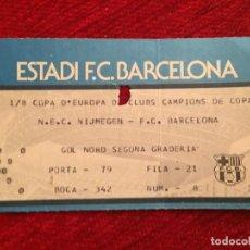 Coleccionismo deportivo: R12517 ENTRADA TICKET FUTBOL BARCELONA NEC NIJMEGEN RECOPA EUROPA 1983 1984. Lote 244950205