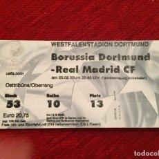 Coleccionismo deportivo: R12529 ENTRADA TICKET FUTBOL BORUSSIA DORTMUND REAL MADRID UEFA CHAMPIONS LEAGUE 2002 2003. Lote 244950475