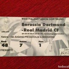 Coleccionismo deportivo: R12530 ENTRADA TICKET FUTBOL BORUSSIA DORTMUND REAL MADRID UEFA CHAMPIONS LEAGUE 2002 2003. Lote 244950480