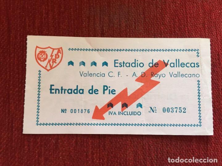R12584 ENTRADA TICKET FUTBOL RAYO VALLECANO 2-2 VALENCIA LIGA TEMPORADA 1989 1990 (Coleccionismo Deportivo - Documentos de Deportes - Entradas de Fútbol)