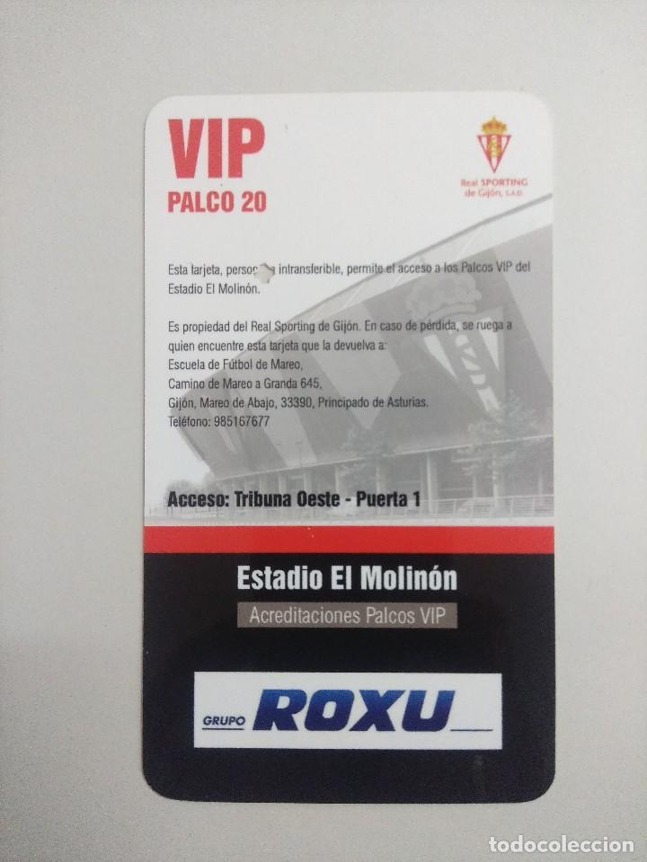 Coleccionismo deportivo: SPORTING DE GIJON-REAL SOCIEDAD/ACREDITACION PALCO VIP TEMPORADA 2011 ESTADIO EL MOLINON. - Foto 2 - 245442800