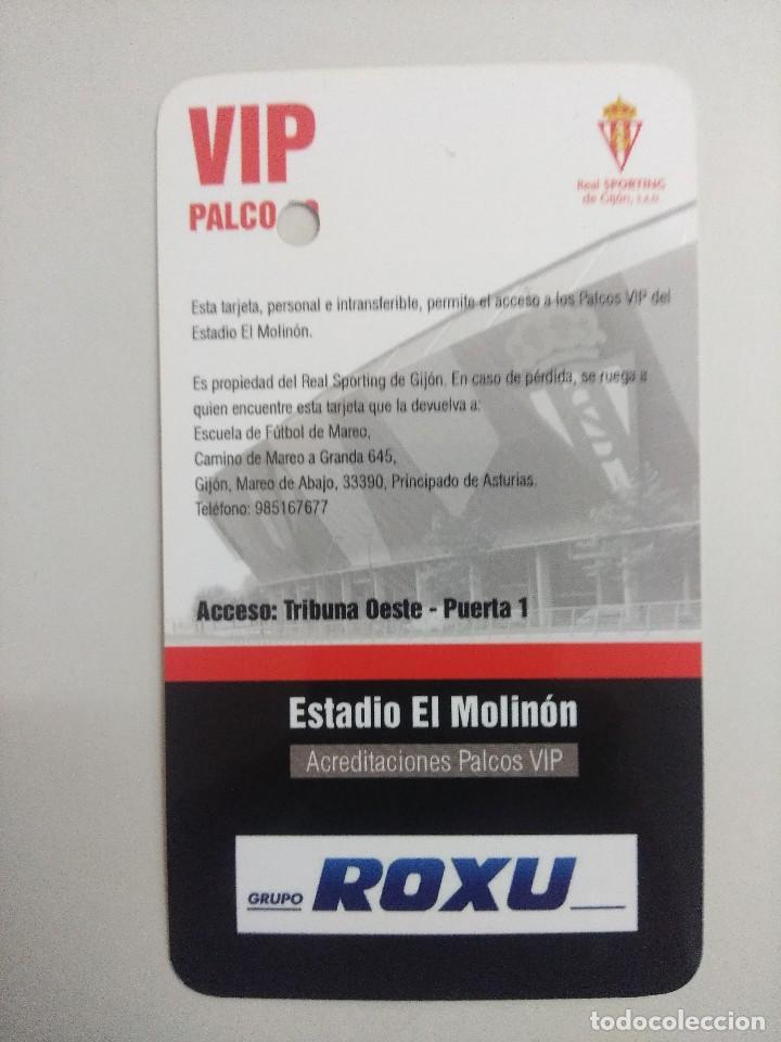 Coleccionismo deportivo: SPORTING DE GIJON-LEVANTE C.F./ACREDITACION PALCO VIP TEMPORADA 2011 ESTADIO EL MOLINON. - Foto 2 - 245443240
