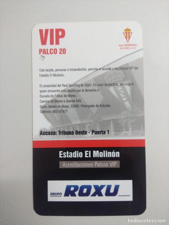 Coleccionismo deportivo: SPORTING DE GIJON-C.A.OSASUNA/ACREDITACION PALCO VIP TEMPORADA 2011 ESTADIO EL MOLINON. - Foto 2 - 245443370