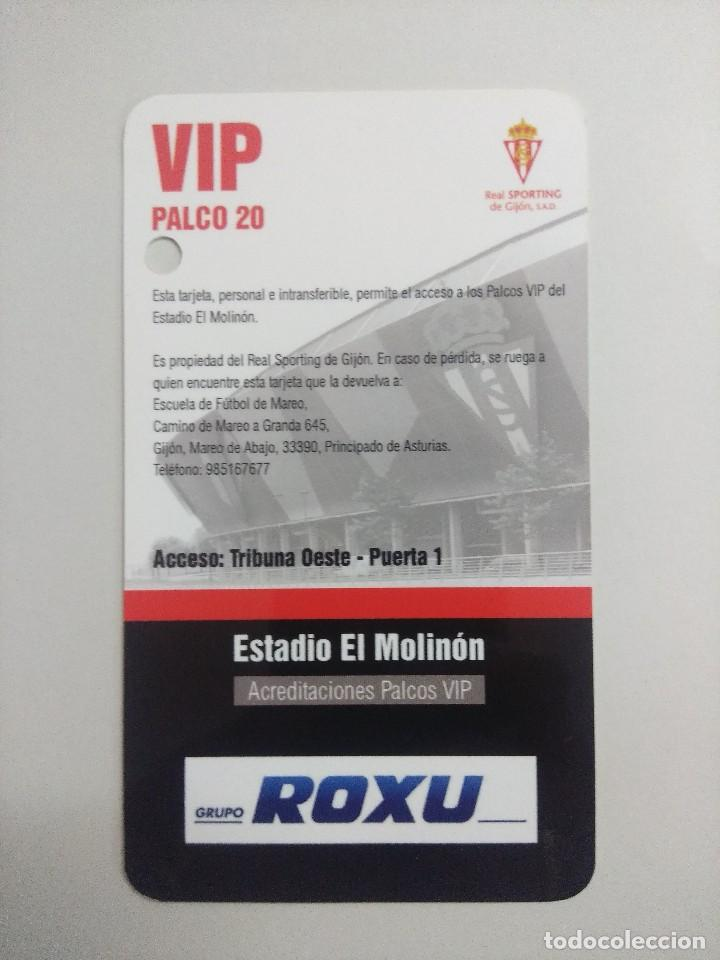 Coleccionismo deportivo: SPORTING DE GIJON-SEVILLA F.C./ACREDITACION PALCO VIP TEMPORADA 2011 ESTADIO EL MOLINON. - Foto 2 - 245443960