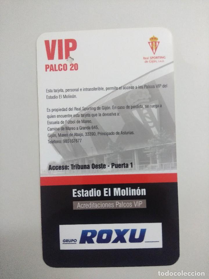 Coleccionismo deportivo: SPORTING DE GIJON-REAL RACING CLUB/ACREDITACION PALCO VIP TEMPORADA 2011 ESTADIO EL MOLINON. - Foto 2 - 245444090