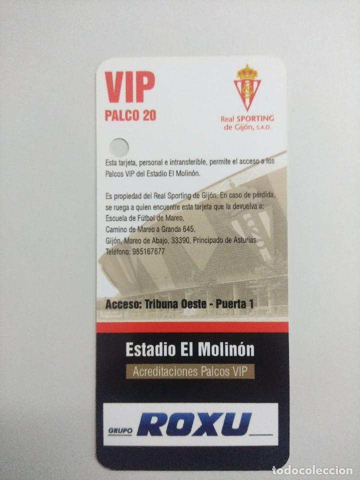 Coleccionismo deportivo: SPORTING DE GIJON-ATHLETIC CLUB/ACREDITACION PALCO VIP TEMPORADA 2011 ESTADIO EL MOLINON. - Foto 2 - 245444445