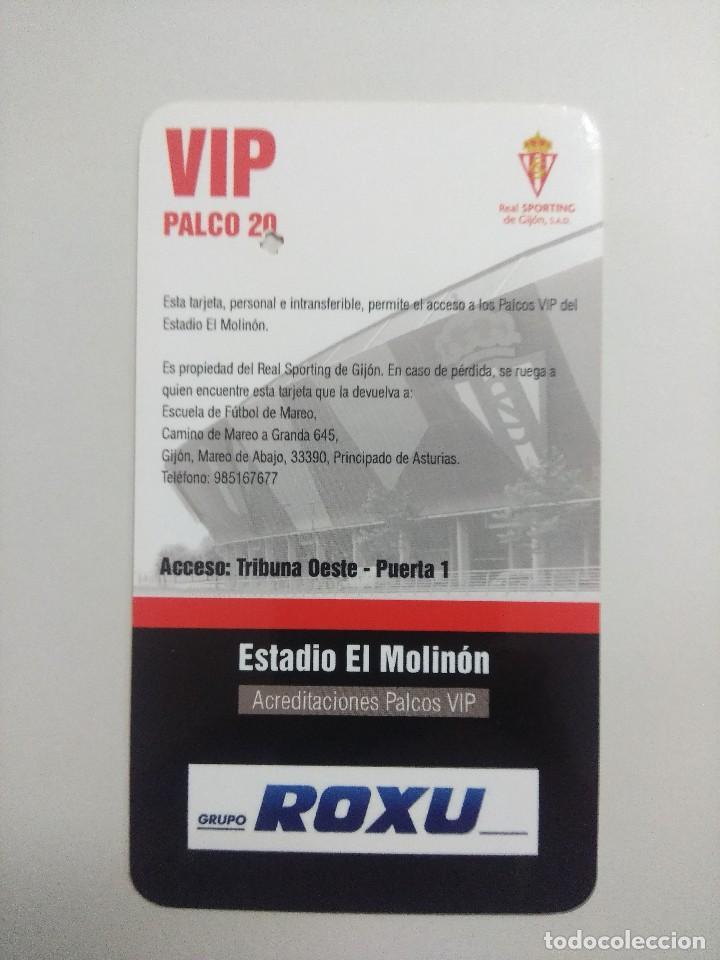 Coleccionismo deportivo: SPORTING DE GIJON-F.C.BARCELONA/ACREDITACION PALCO VIP TEMPORADA 2011 ESTADIO EL MOLINON. - Foto 2 - 245444860