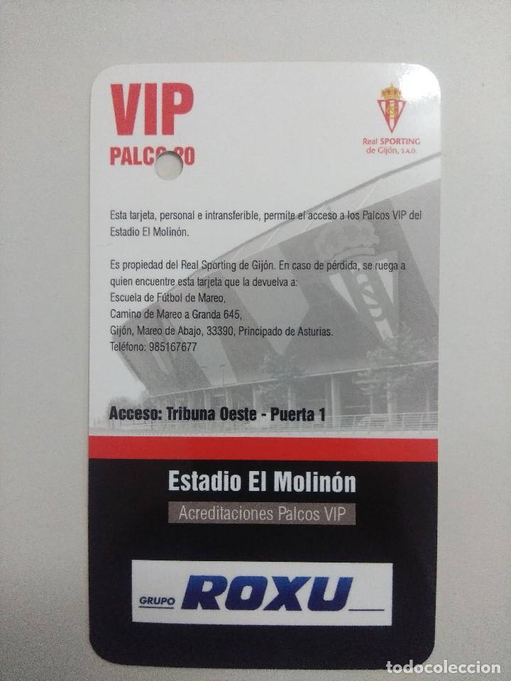 Coleccionismo deportivo: SPORTING DE GIJON-HERCULES C.F/ACREDITACION PALCO VIP TEMPORADA 2011 ESTADIO EL MOLINON. - Foto 2 - 245448370