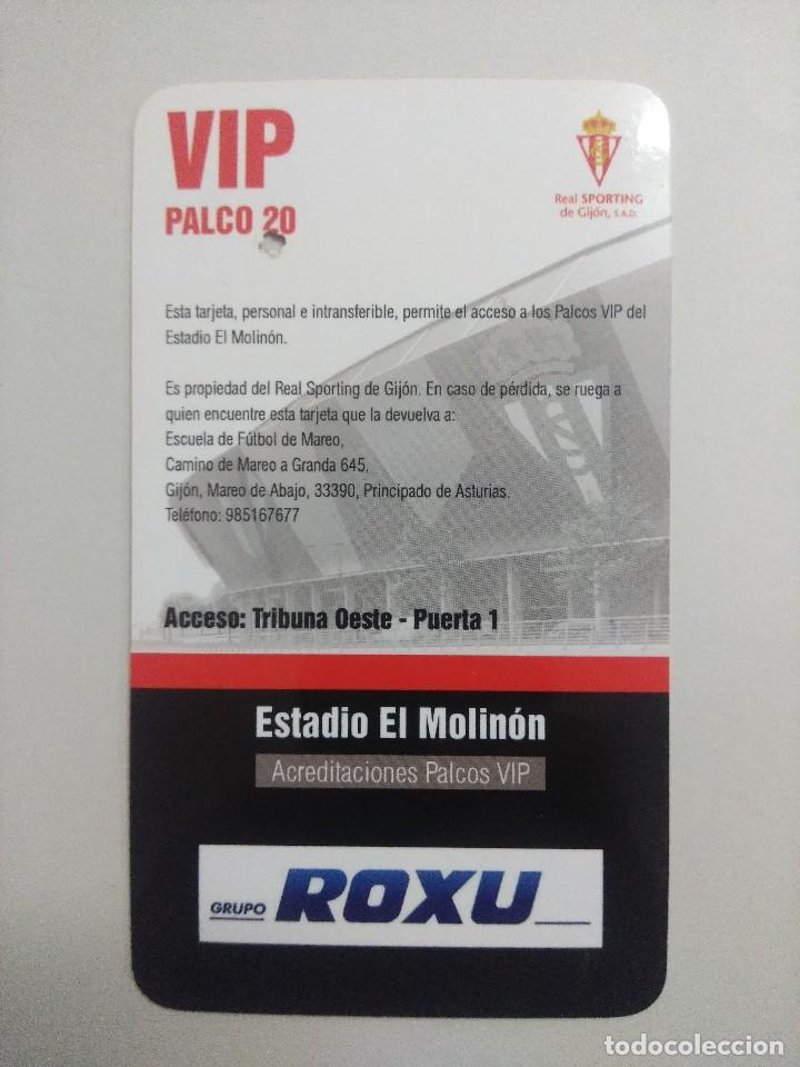Coleccionismo deportivo: SPORTING DE GIJON-U.D.ALMERIA/ACREDITACION PALCO VIP TEMPORADA 2011 ESTADIO EL MOLINON. - Foto 2 - 245448475