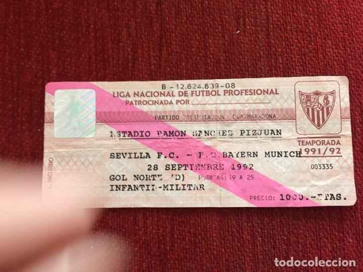 R12596 ENTRADA TICKET FUTBOL SEVILLA BAYERN MUNCHEN PRESENTACION MARADONA 1992 (Coleccionismo Deportivo - Documentos de Deportes - Entradas de Fútbol)
