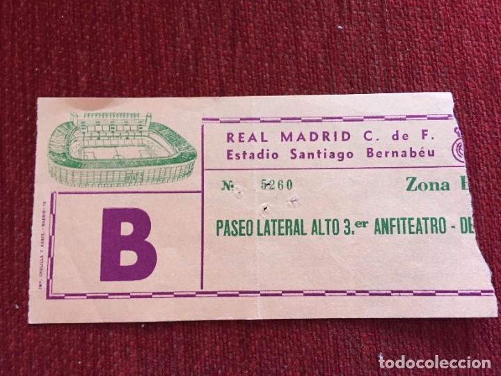 R12599 ENTRADA TICKET FUTBOL COPA UEFA 1981 1982 REAL MADRID CARL ZEISS JENA (Coleccionismo Deportivo - Documentos de Deportes - Entradas de Fútbol)