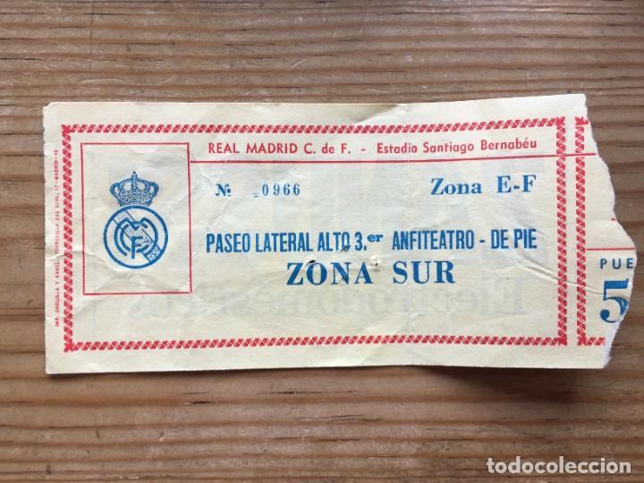 R12600 ENTRADA TICKET FUTBOL REAL MADRID ZARAGOZA SEMIFINAL COPA DE LA LIGA (22-6-1983) (Coleccionismo Deportivo - Documentos de Deportes - Entradas de Fútbol)