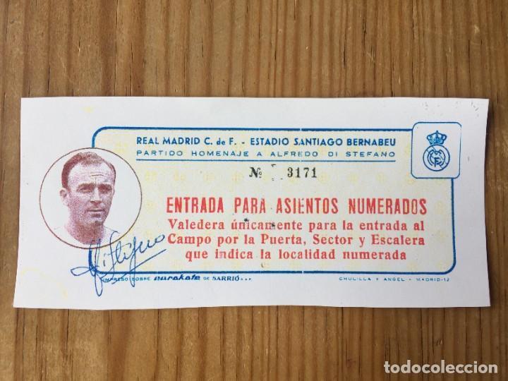 R12601 FOTOCOPIA ENTRADA TICKET 1967 HOMENAJE A ALFREDO DI STEFANO AUTOGRAFO REAL MADRID CELTIC (Coleccionismo Deportivo - Documentos de Deportes - Entradas de Fútbol)