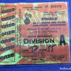 Coleccionismo deportivo: R12605 REPLICA ENTRADA TICKET FINAL COPA EUROPA 1981 REAL MADRID LIVERPOOL. Lote 245789205