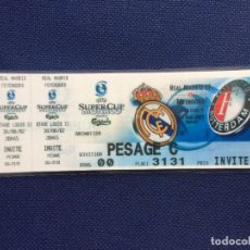 Coleccionismo deportivo: R12607 REPLICA ENTRADA TICKET FINAL SUPERCOPA EUROPA REAL MADRID FEYENOORD 2002. Lote 245880325