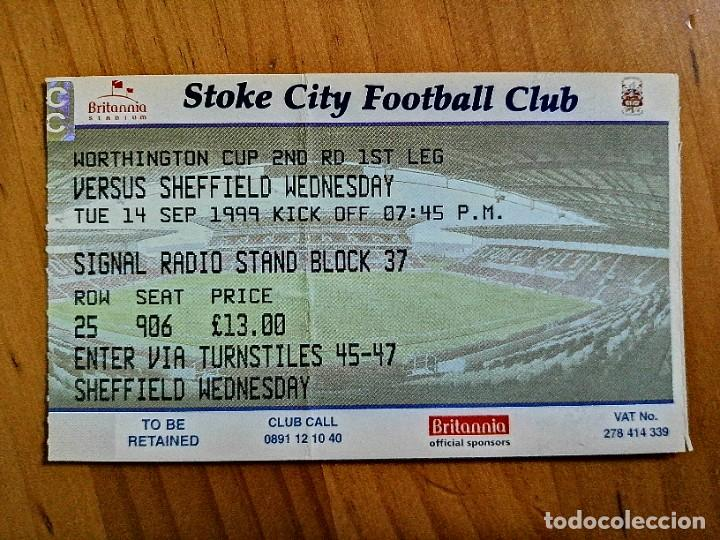 Coleccionismo deportivo: TICKET - ENTRADA DE FUTBOL - STOKE CITY FOOTBALL CLUB - Foto 1 - 246053980