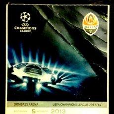 Coleccionismo deportivo: ENTRADA DE FUTBOL - EURO-CUP - SHAKHTAR DONETSK - BAYER LEVERKUSEN - 2013/14.. Lote 246097305
