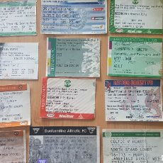 Coleccionismo deportivo: LOTE 12 ENTRADAS/ TICKETS CHAMPIONS LEAGUE / PREMIER LEAGUE MANCHESTER UTD./ DEPORTIVO/ CELTIC.... Lote 246109605