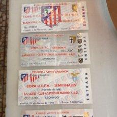 Coleccionismo deportivo: LOTE DE 4 ENTRADAS VICENTE CALDERÓN ATLETICO MADR. Lote 246668760