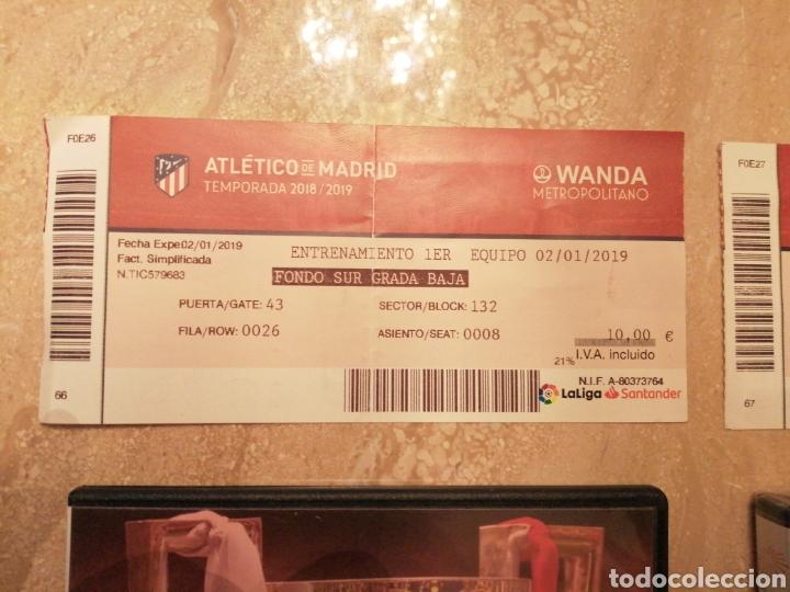 Coleccionismo deportivo: Lote Atlético de Madrid entradas y DVDs - Foto 4 - 249132475