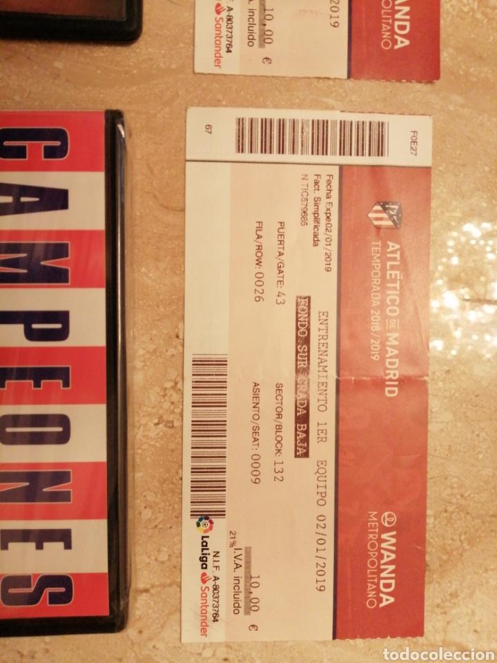 Coleccionismo deportivo: Lote Atlético de Madrid entradas y DVDs - Foto 5 - 249132475