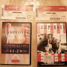 Coleccionismo deportivo: LOTE ATLÉTICO DE MADRID ENTRADAS Y DVDS. Lote 249132475