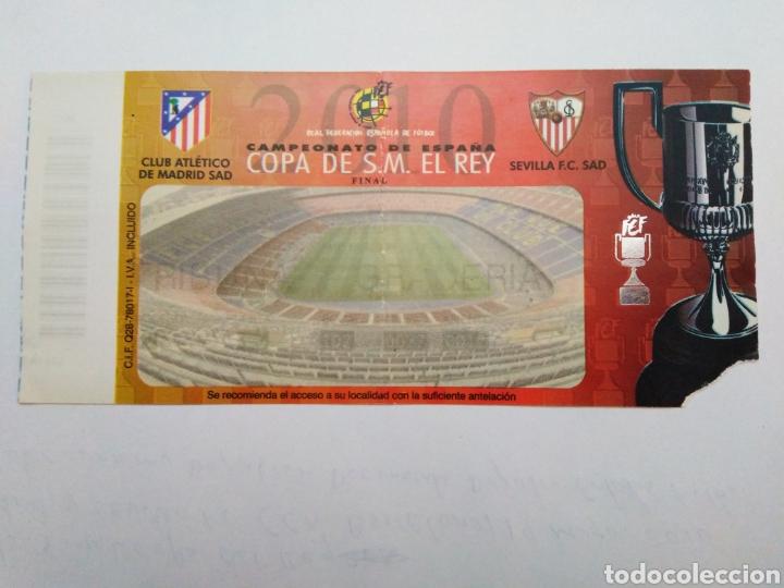 ENTRADA FINAL COPA DE S.M. EL REY / AT. MADRID Y SEVILLA ( BARCELONA 19 MAYO 2010 ) (Coleccionismo Deportivo - Documentos de Deportes - Entradas de Fútbol)