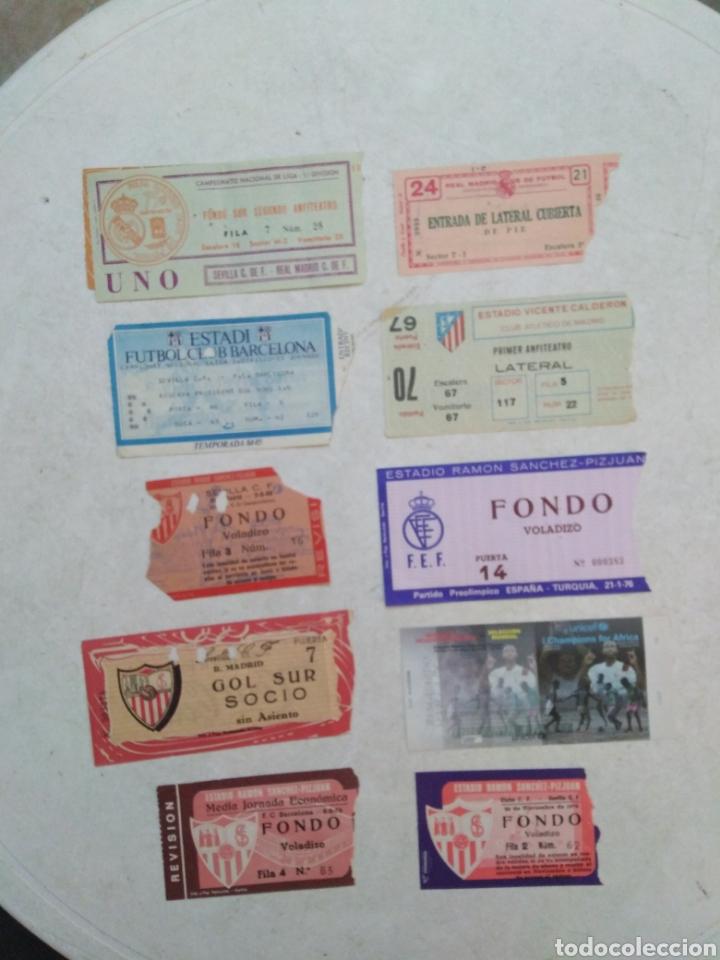 LOTE DE 10 ENTRADAS DE FÚTBOL ( VARIADAS ) (Coleccionismo Deportivo - Documentos de Deportes - Entradas de Fútbol)