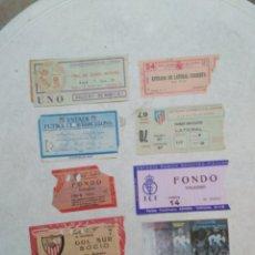 Coleccionismo deportivo: LOTE DE 10 ENTRADAS DE FÚTBOL ( VARIADAS ). Lote 251912975