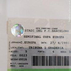 Collectionnisme sportif: ENTRADA SEMIFINAL COPA DE EUROPA.1994. Lote 252145930