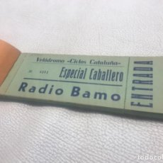 Coleccionismo deportivo: ANTIGUO TALONARIO ENTRADAS DEL VELODROMO DE REUS CICLOS CATALUÑA ESPECIAL CABALLERO RADIO BAMO. Lote 253150675