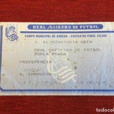 Coleccionismo deportivo: R14187 ENTRADA TICKET FUTBOL REAL SOCIEDAD DUKLA PRAGA PRAHA COPA UEFA 1988 1989. Lote 254180975