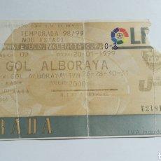 Coleccionismo deportivo: ENTRADA TICKET LEVANTE VALENCIA 1998 1999 COPA DEL REY NOU ESTADI. Lote 254551105