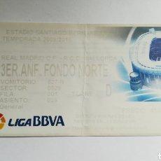 Coleccionismo deportivo: ENTRADA TICKET REAL MADRID MALLORCA 2009 2010 SANTIAGO BERNABEU. Lote 254582810