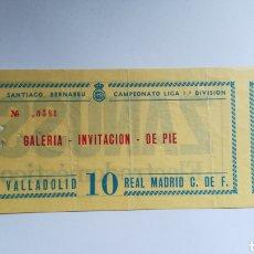 Coleccionismo deportivo: ENTRADA TICKET REAL MADRID VALLADOLID TEMPORADA 1982 1983 JORNADA 18 SANTIAGO BERNABÉU. Lote 254592580