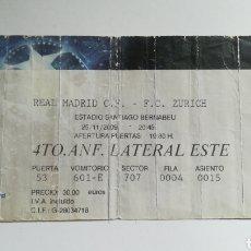 Coleccionismo deportivo: ENTRADA TICKET REAL MADRID FC ZURICH SANTIAGO BERNABEU CHAMPIONS LEAGUE 2009 2010. Lote 254593810
