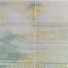 Coleccionismo deportivo: ENTRADA TICKET REAL OVIEDO ARTEIXO 2003 2004 CARLOS TARTIERE. Lote 254594360