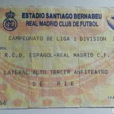 Coleccionismo deportivo: ENTRADA TICKET REAL MADRID ESPAÑOL ESPANYOL 1994 1995 SANTIAGO BERNABEU JORNADA 26 PARTIDO 500 BUYO. Lote 254599965