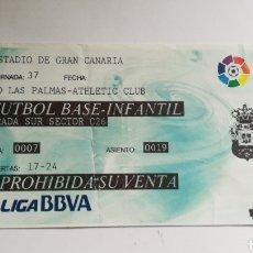 Coleccionismo deportivo: ENTRADA TICKET LAS PALMAS ATHLETIC CLUB 2015 2016 ÚLTIMO PARTIDO VALERON GRAN CANARIA. Lote 254602475