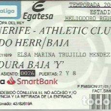 Coleccionismo deportivo: ENTRADA CD TENERIFE-ATHLETIC CLUB DE BILBAO.COPA DEL REY 2020.. Lote 255016775