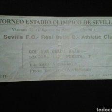 Coleccionismo deportivo: ENTRADA FUTBOL SEVILLA - BETIS - ATHLETIC 2001. Lote 257347335