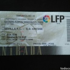 Coleccionismo deportivo: ENTRADA FUTBOL SEVILLA ORENSE 1998. Lote 257347825