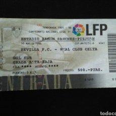 Coleccionismo deportivo: ENTRADA FUTBOL SEVILLA CELTA 1996. Lote 257347975