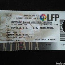 Coleccionismo deportivo: ENTRADA FUTBOL SEVILLA COMPOSTELA 1996. Lote 257348125